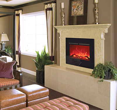 Beautiful Electric Fireplace - Center Street Mokelumne Hill CA