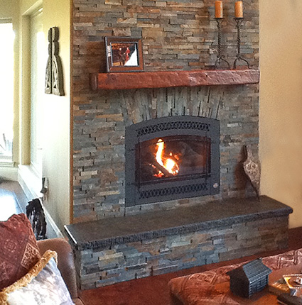 Travel to our top rated fireplace showroom & store in Jackson CA to view a great selection of fireplace inserts