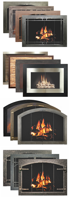 Stop by our Jackson CA hearth store to view a great collection of custom fireplace doors including glass fireplace door sets and more. We serve Amador & Calaveras Counties.