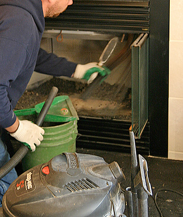 Fireplace Cleaning at house on Spanish Street in Drytown CA