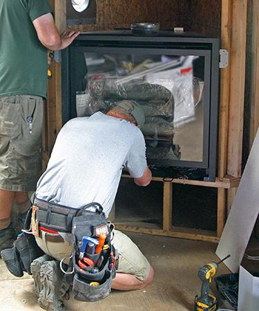 Custom Fireplace Installation - on Old California 49 - Amador City