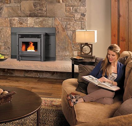 Pellet Fireplace Insert by Avalon - Jackson CA