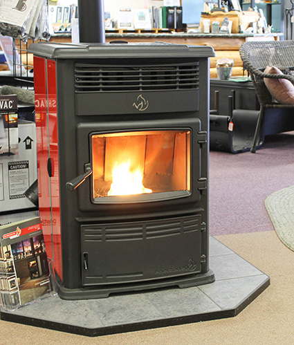 Enerzone Pellet Stove in our Jackson CA Showroom