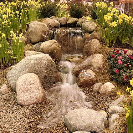 Pondless Watefall Installation - Depot Rd in Martell CA