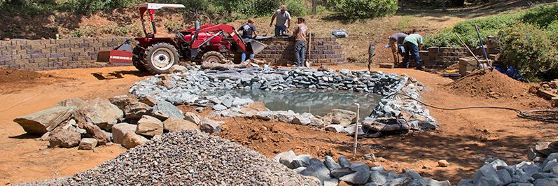 new pond installation Jackson CA area Amador County & Calaveras County