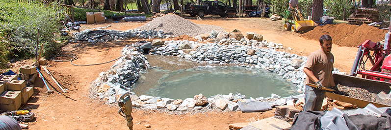 new pond building Jackson CA area Amador County & Calaveras County